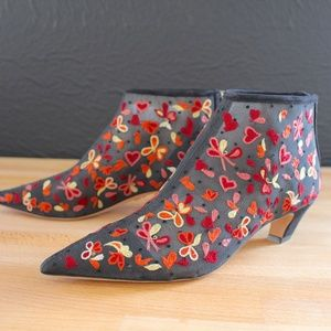 Christian Dior Dioreve Floral Embroidered Boot